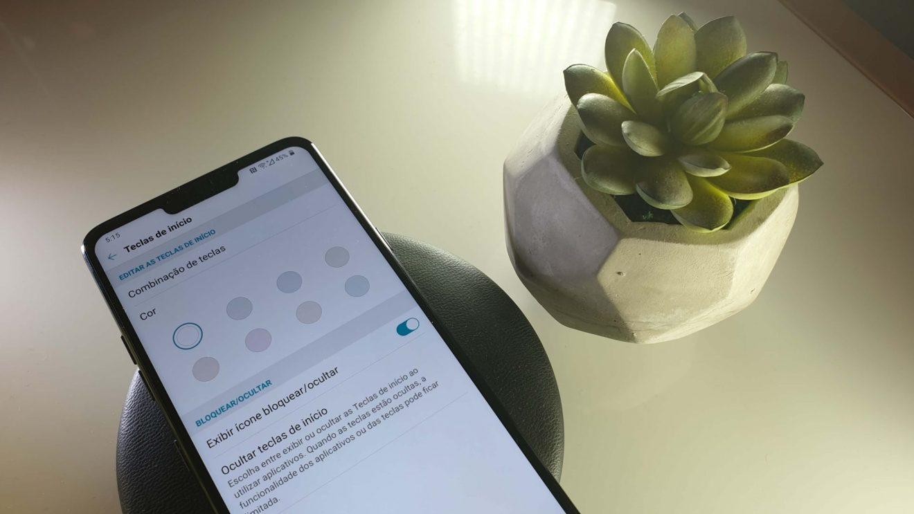 tutorial de como trocar. alterar, ou remover os botões de navegação do LG G7 ThinQ