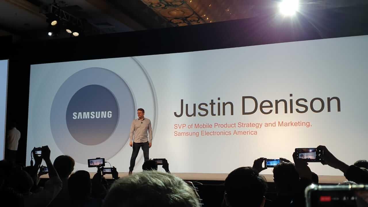 Anúncio da Samsung da chegada do smartphone 5G