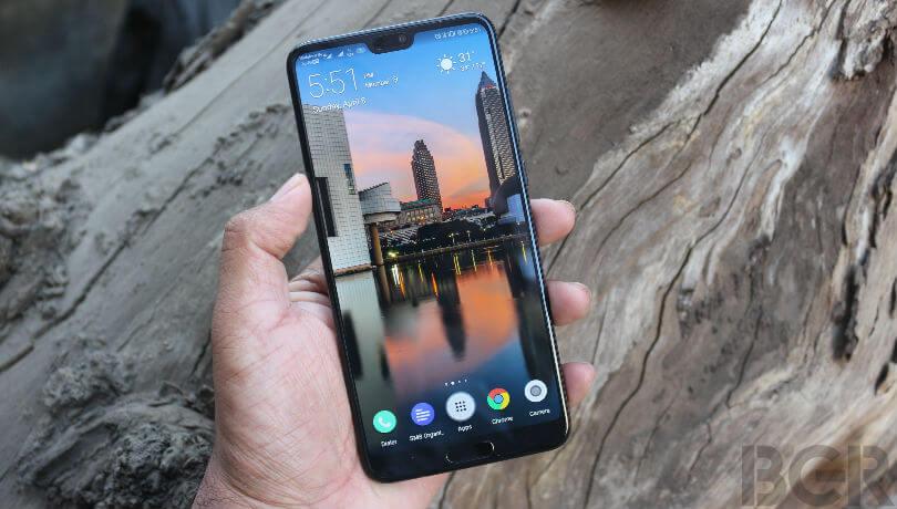 Display do Huawei P20 Pro, um dos melhores smartphones de 2018