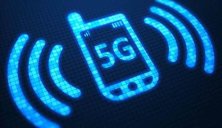 Celular com símbolo do 5G