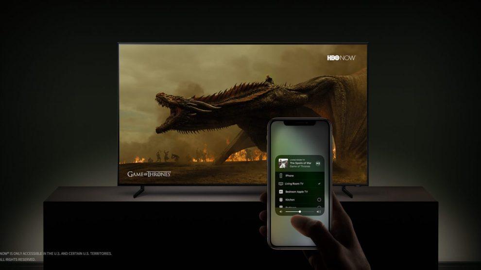 AirPlay 2 permite a transmissão de conteúdo de aparelhos Apple para TVs Samsung