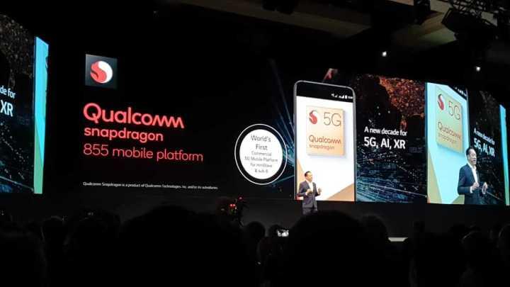 LG durante a CES 2019, anunciando parceria com a Qualcomm