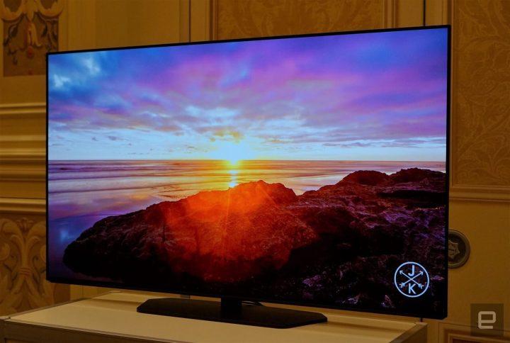 OLED oferece uma qualidade de imagem superior. Crédito da imagem: Devindra Hardawar/Engadget