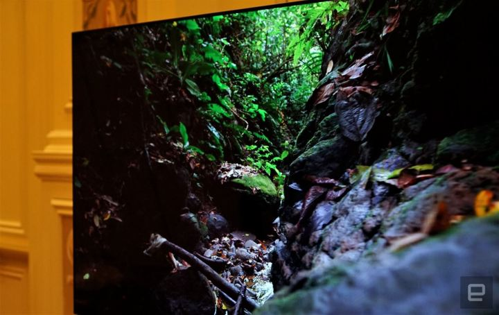 O novo monitor consegue variar a taxa de atualização de tela. Crédito da imagem: Devindra Hardawar/Engadget