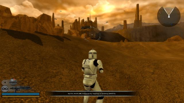Captura de tela de jogo de Star Wars