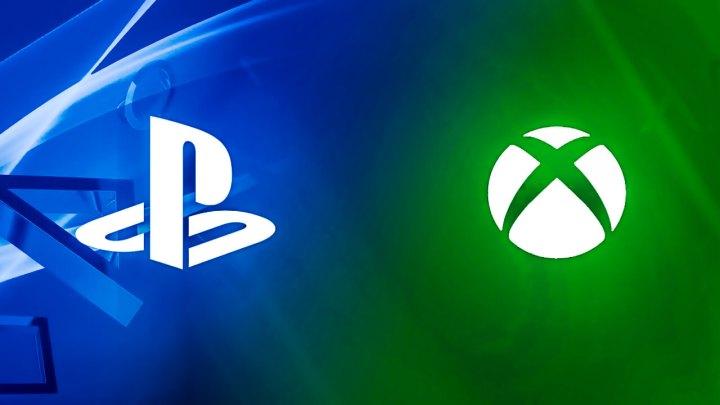 Logomarcas PlayStation e Xbox juntas