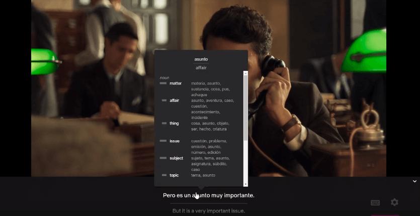 Language Learning with Netflix disponibiliza duas legendas para ajudar no aprendizado