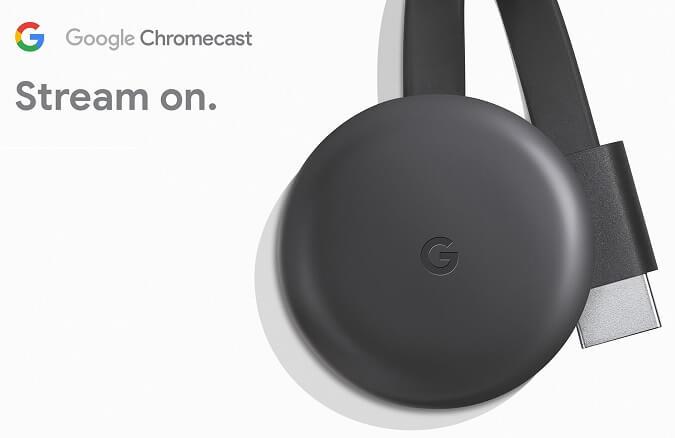 Novo Chromecast terceira geração