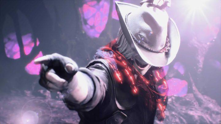 Dante e seu chapéu. uma das armas do novo Devil May Cry 5.