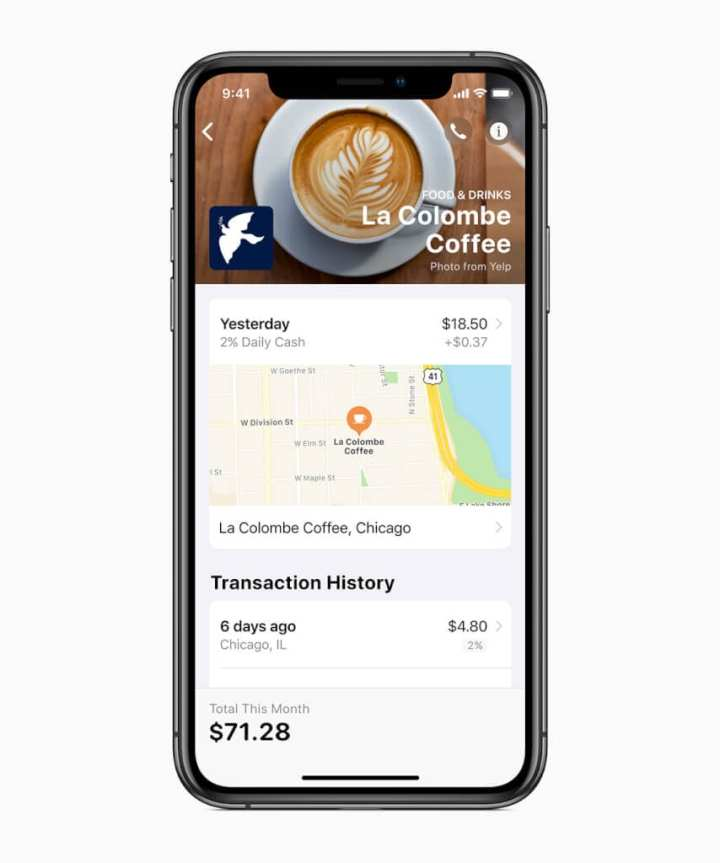 A Apple usa o Maps e Machine Learning para identificar onde uma compra foi feita, mas nenhum dado é enviado à empresa. Tudo é processado no próprio iPhone.