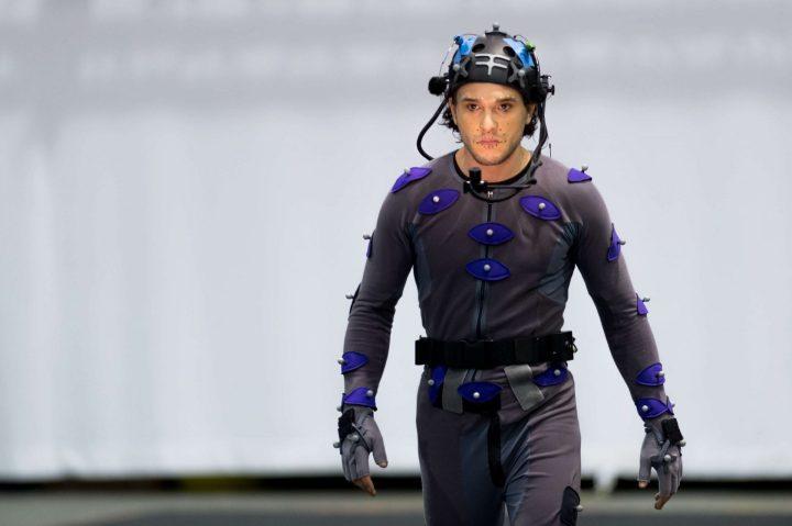 Kit Harington em uma sessão de captura de movimentos corporais para o jogo Call of Duty: Infinite Warfare
