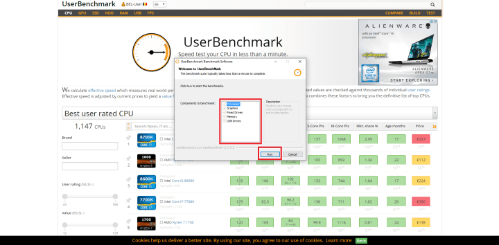 UserBenchmark software