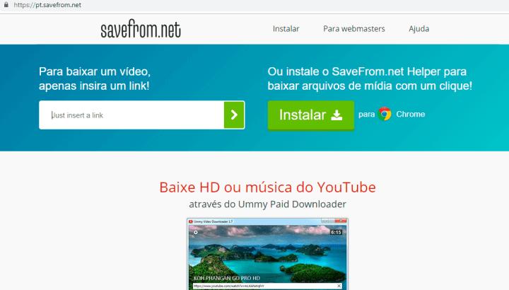 SaveFrom: Como baixar arquivos com segurança da internet 4