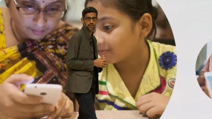 Sundar Pichai no anúncio do Google durante a GDC 2019