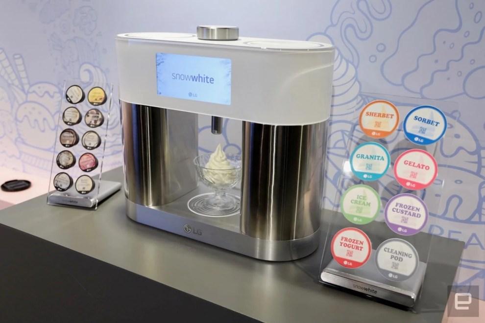 LG apresenta SnowWhite, uma máquina que prepara sorvete em 5 minutos 4