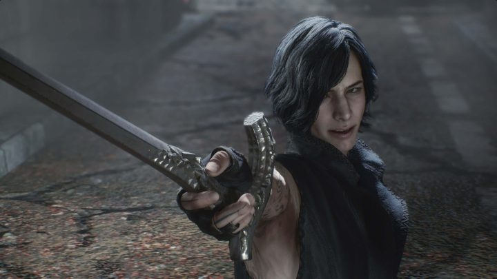 O Misterioso V, o mais novo personagem jogável de Devil May Cry 5.