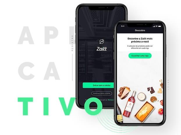 É preciso baixar o aplicativo da Zaitt e realizar um cadastro para fazer as compras