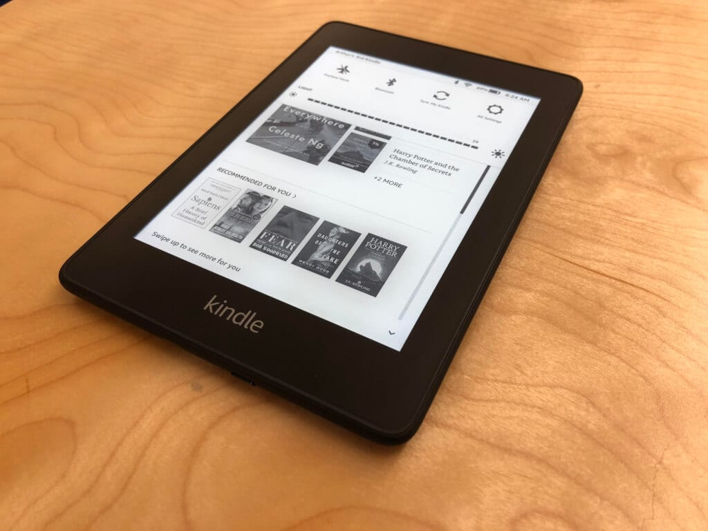 Kindle Paperwhite tela