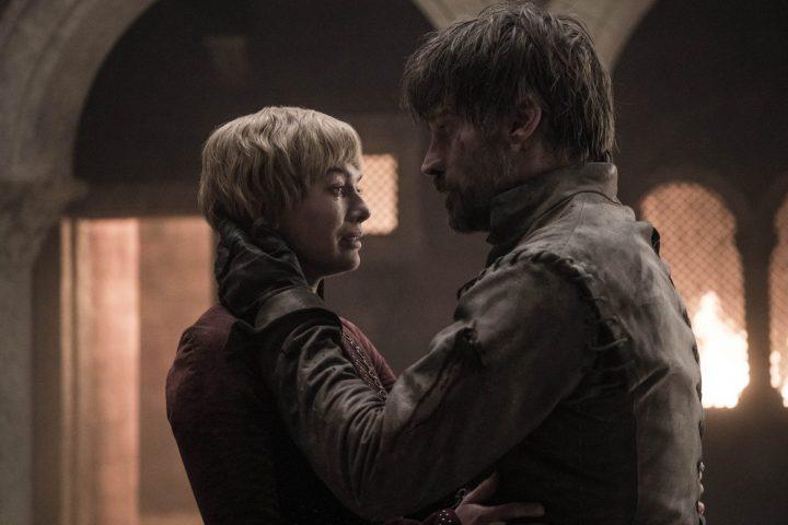 Cersei e Jamei no quinto episódio da oitava temporada de Game of Thrones.
