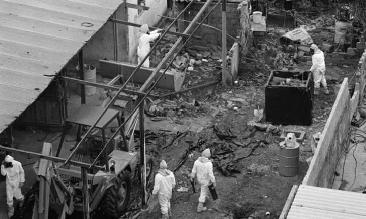 Vista do ferro velho em Goiânia na época do acidente. Foto: Yoshikazu Maeda