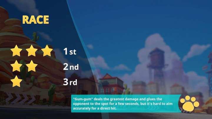 Cada disputa possui requisitos para se conseguir de uma a três estrelas.