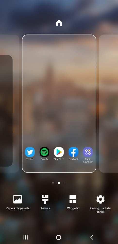 Galaxy A9 2018 tela inicial da One UI