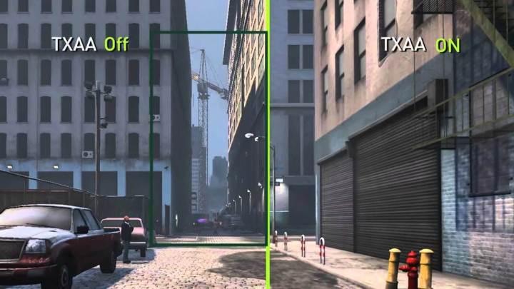 A NVIDIA permite visualização prévia com e sem o efeito