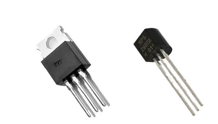 Os transistores são feitos de silício