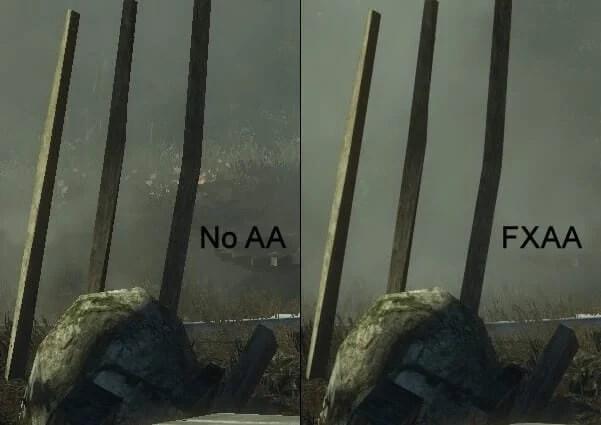 Comparação de FXAA na Placa AMD Radeon