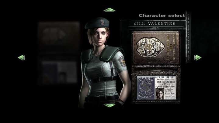 Jill Valentine é uma das personagens controláveis em Resident Evil.