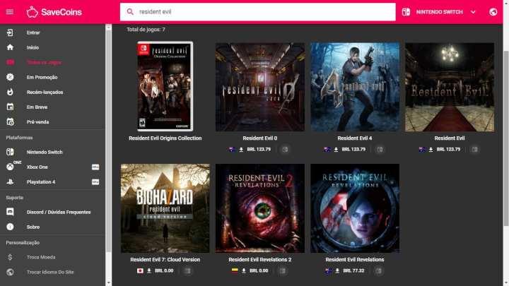 Ferramentas como o site savecoins ajudam a encontrar o preço mais baixo de jogos digitais.