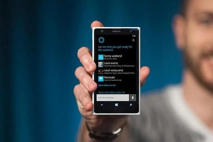 Cortana já está incluído nos software Windows 10