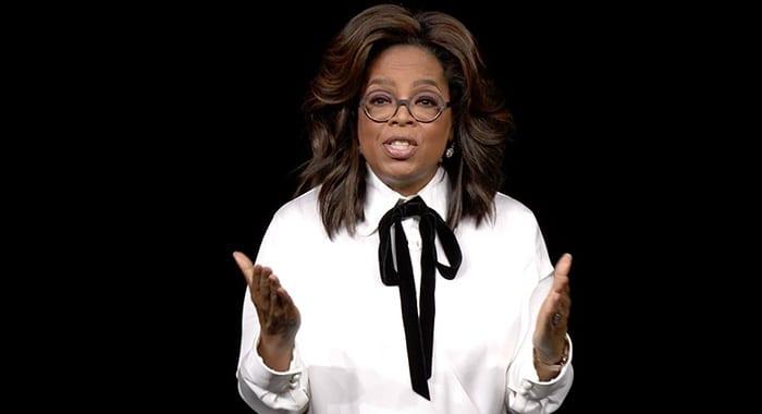 Oprah será uma das artistas mais envolvidas com o Apple TV+