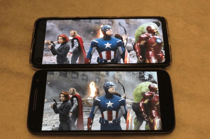 Netflix no One Vision e em um smartphone convencional
