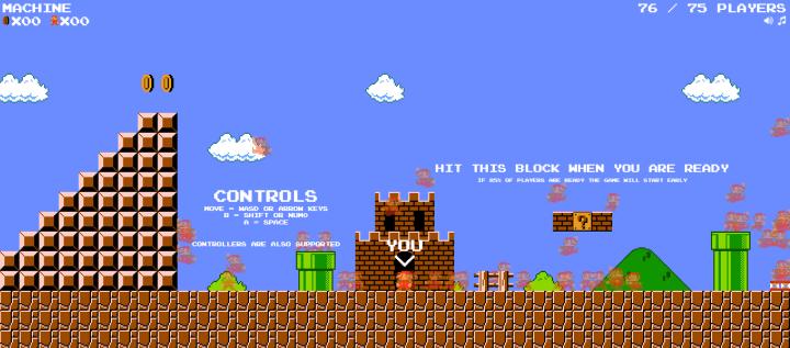 Super Mario Battle Royale - tela de carregamento