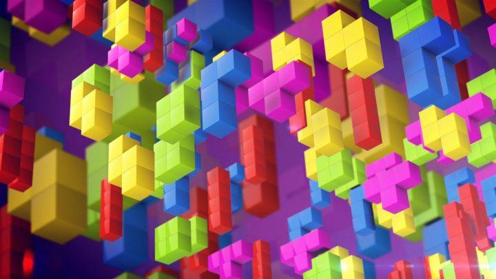 Na foto, cubos e segmentos do Tetris em 3D.