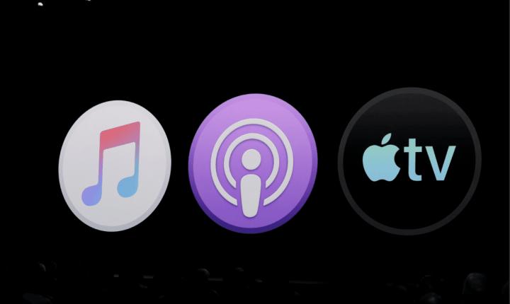 iTunes repartido entre Music, Podcasts e Apple TV no macOS Catalina