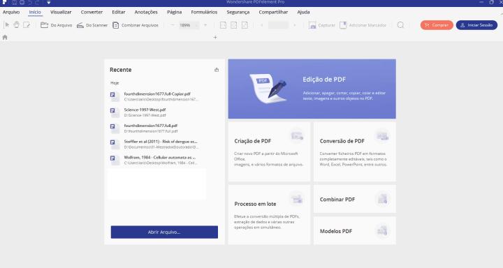 Edição de arquivos com o PDFelement é uma tarefa simples