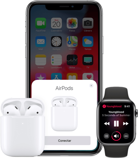 Apple AirPods 2ª geração se conectam a iPhones e Apple Watch
