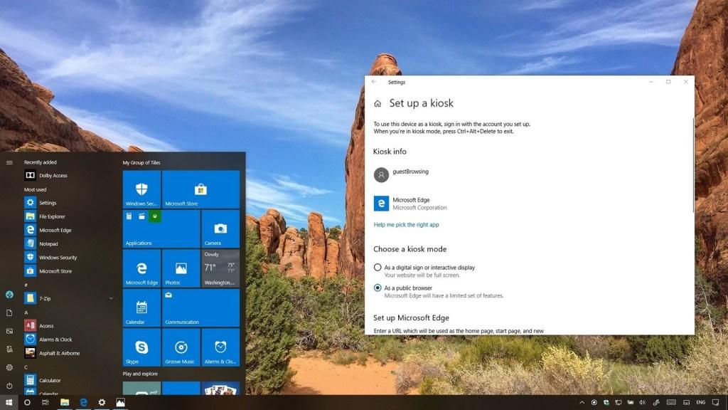 Configure o Modo Quiosque no Windows 10