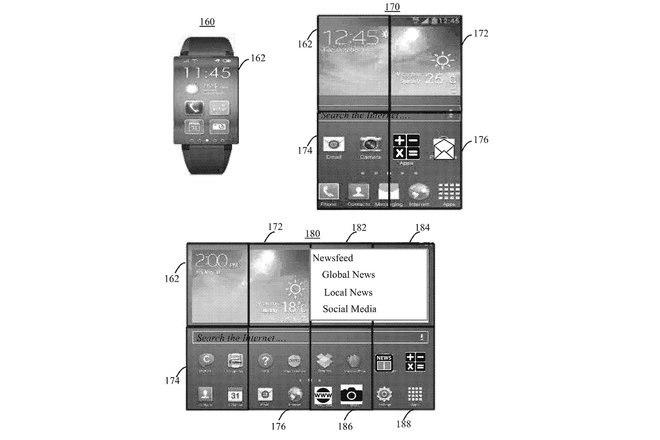 Conceito de smartwatch dobrável a ibm