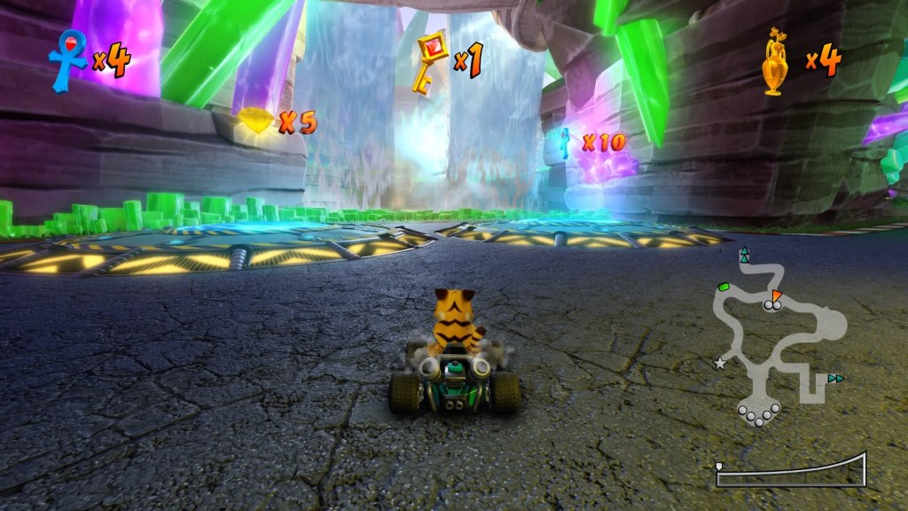 Crash Team Racing Nitro-Fueled: personalizações apenas estéticas.