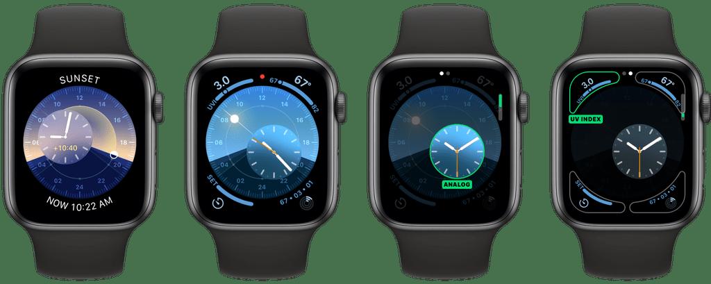 Clássico relógio Solar é uma  das novas opções do watchOS 6.