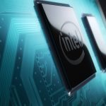 Close dos chips de 10ª geração da Intel