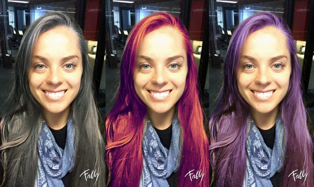 Em alguns aparelhos só é possível mudar a cor do cabelo depois da foto já tirada