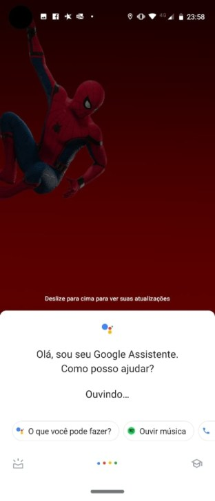 google assistente no moto vision