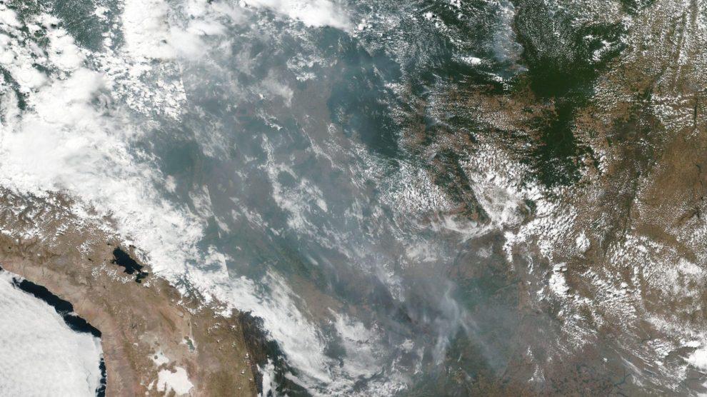 Registro da NASA sobre o aumento das queimadas