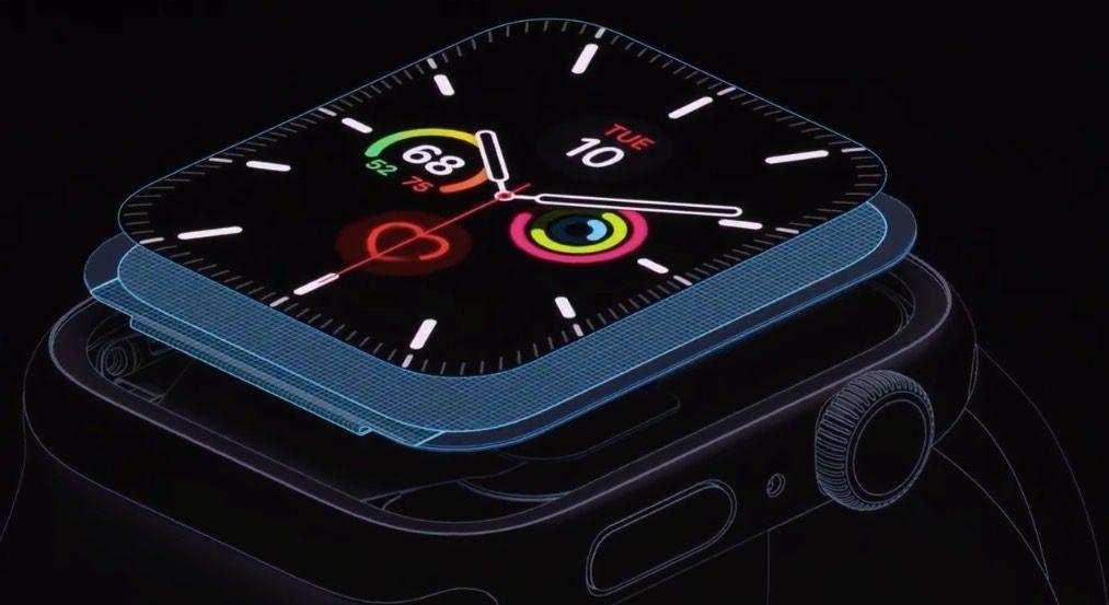 O Apple Watch 5 mantém a bateria que dura 18 horas, mesmo com a nova tela sempre ativa