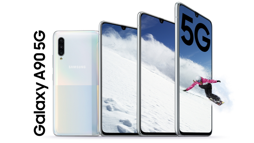 Foto destacada do novo Galaxy A90 5G