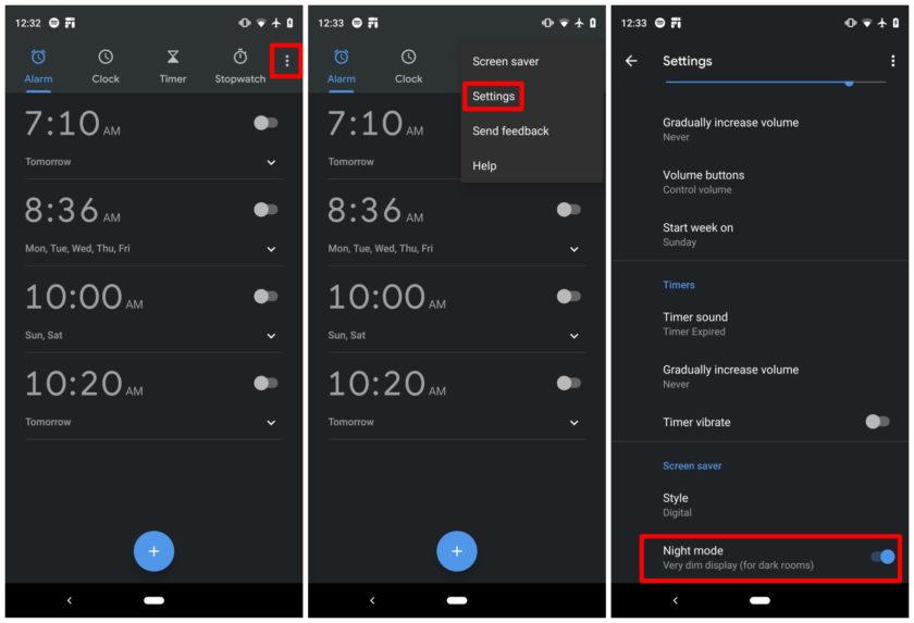 Interface do Clock, App do Google exclusivo para Android.
